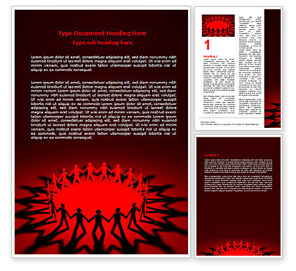Round Dance On A Red Field Word Template, 06993, Religious/Spiritual — PoweredTemplate.com