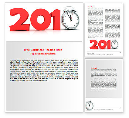Holiday/Special Occasion: 2010 Ticking Word Template #06994