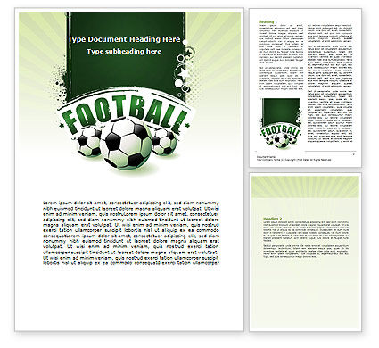 Football World Cup Word Template, 06996, Sports — PoweredTemplate.com
