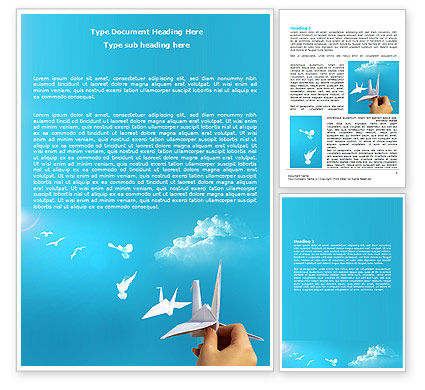 Paper Birds Word Template, 07000, Business Concepts — PoweredTemplate.com