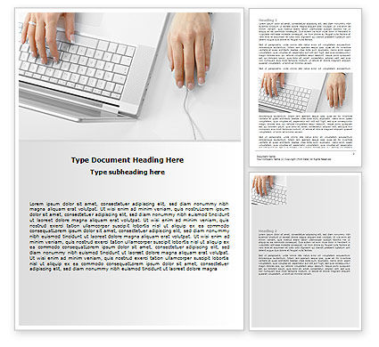 Technology, Science & Computers: Laptop User Word Template #07001