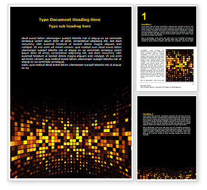 Abstract/Textures: Mosaic Lights Word Template #07003