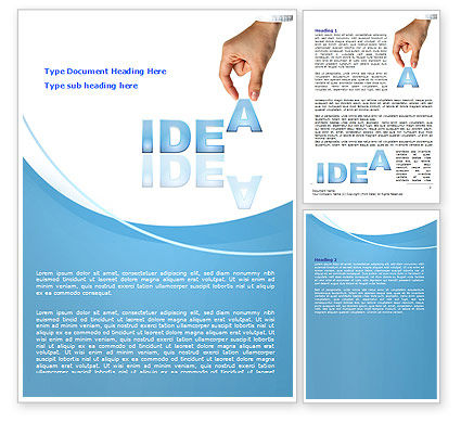 Creating an Idea Word Template, 07009, Consulting — PoweredTemplate.com