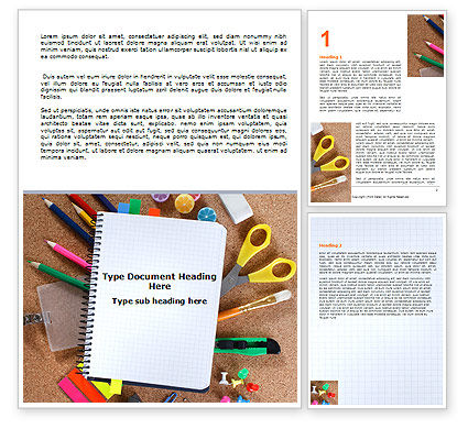 Office Stuff Word Template, 07010, Business — PoweredTemplate.com