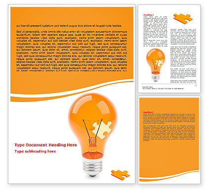 Idea Puzzle Word Template, 07011, Consulting — PoweredTemplate.com