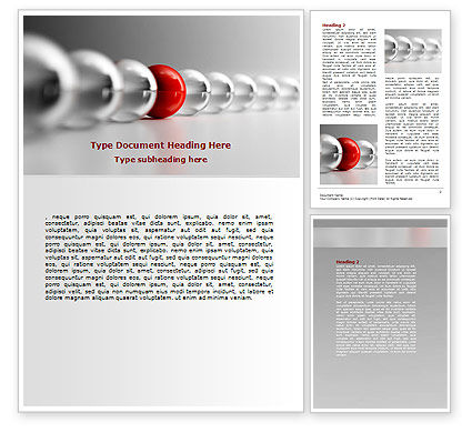 Business Concepts: Red Ball Word Template #07014