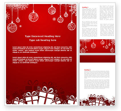 Holiday/Special Occasion: Red New Year Theme Word Template #07018