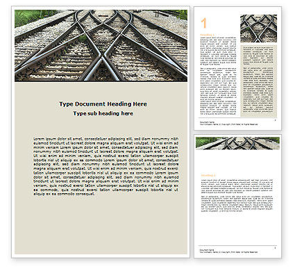 Railways Word Template, 07027, Cars/Transportation — PoweredTemplate.com