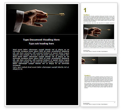 Choosing Key Word Template, 07028, Consulting — PoweredTemplate.com
