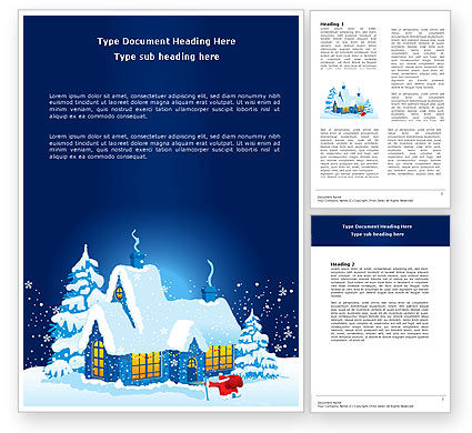 Winter Holidays Word Template, 07030, Holiday/Special Occasion — PoweredTemplate.com