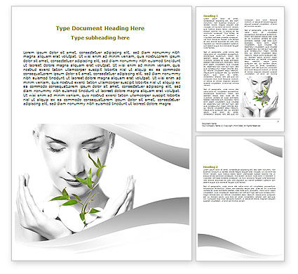 Great Bio Cosmetics Word Template, 07032, Nature U0026 Environment U2014  PoweredTemplate.com With Microsoft Word Biography Template