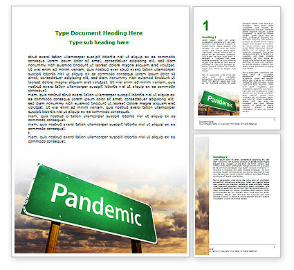 Medical: Pandemic Word Template #07036