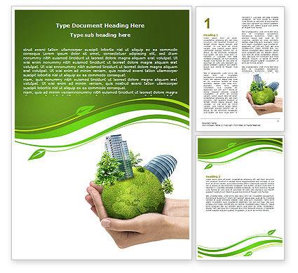 Green Habitat Word Template, 07037, Nature & Environment — PoweredTemplate.com