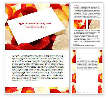 Holiday/Special Occasion: Note in Petals Word Template #07039