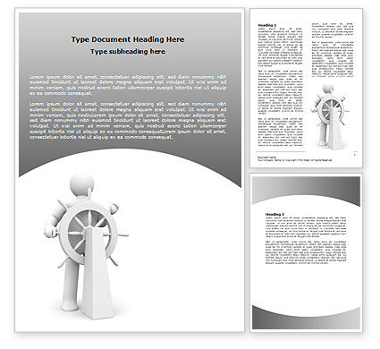 Business Concepts: Steersman Word Template #07044