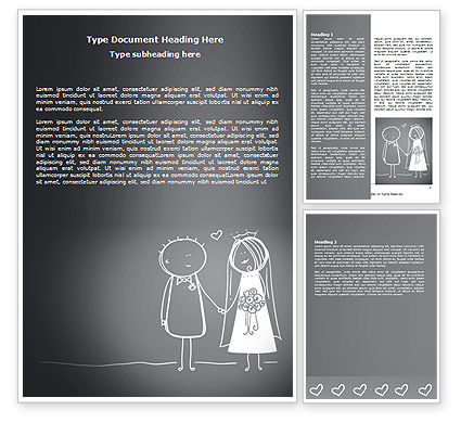 Married Couple Word Template, 07048, Holiday/Special Occasion — PoweredTemplate.com