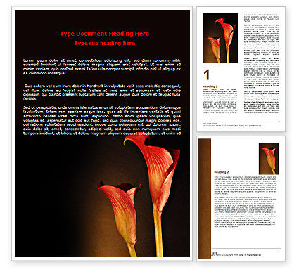 Red Calla Word Template