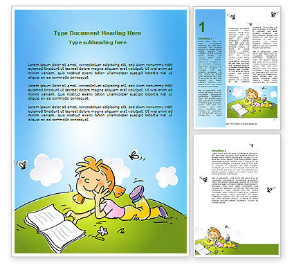Education & Training: Carefree Child Word Template #07057