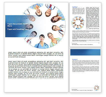 Medical Personnel Circle Word Template