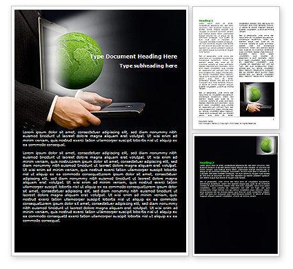 Green Solutions Word Template, 07063, Global — PoweredTemplate.com