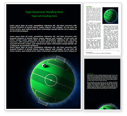 Football Planet Word Template, 07068, Sports — PoweredTemplate.com