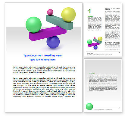 Consulting: Balanced Balls And Beams Word Template #07070
