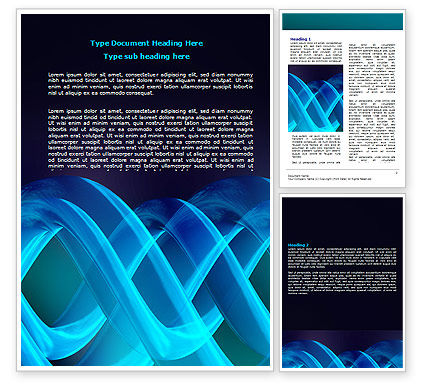 Abstract/Textures: Blue Helix Word Template #07072