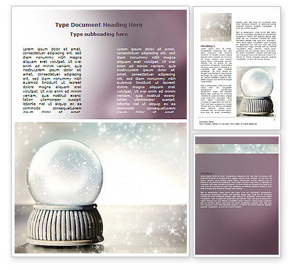 Crystal Ball Word Template, 07073, Holiday/Special Occasion — PoweredTemplate.com