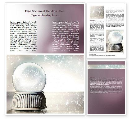 Holiday/Special Occasion: Plantilla de Word - bola de cristal #07073