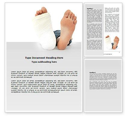 Foot Plaster Word Template, 07080, Medical — PoweredTemplate.com