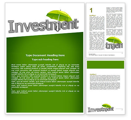 Careers/Industry: Investment Word Template #07084