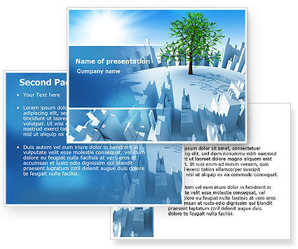 Industrialization and Nature PowerPoint Template, Industrialization and