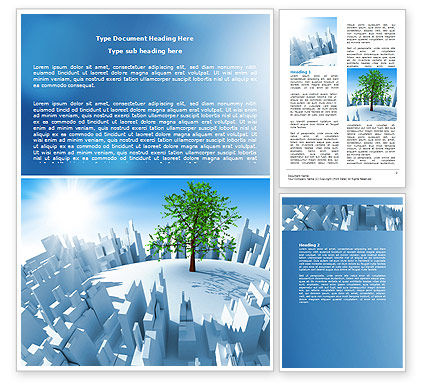 Industrialization and Nature Word Template, 07103, Nature & Environment — PoweredTemplate.com