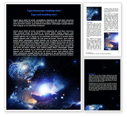 Nature & Environment: Violet Nebula Word Template #07105