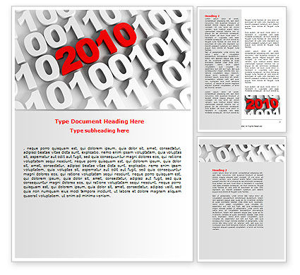 Holiday/Special Occasion: 2010 Word Template #07106