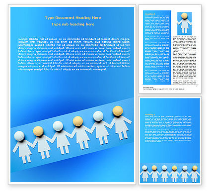 Medical: Women Organization Word Template #07107