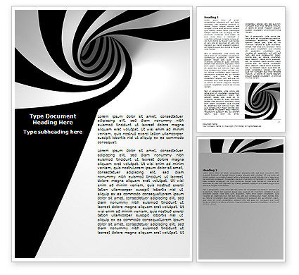 Abstract/Textures: Balck And White Vortex Word Template #07109