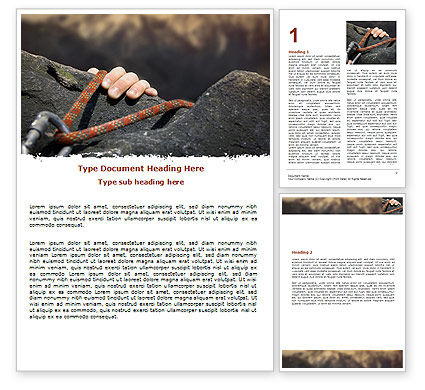Business Concepts: Climber Word Template #07110