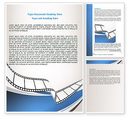 Movie Tape Word Template, 07120, Careers/Industry — PoweredTemplate.com