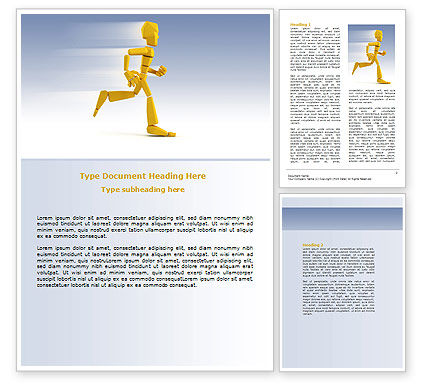 Consulting: Yellow Running Man Word Template #07128