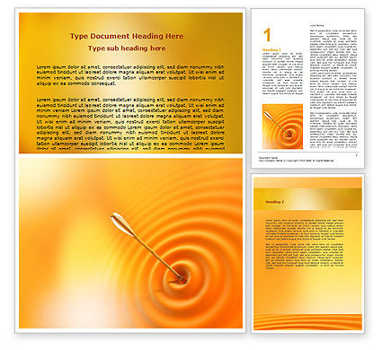 Reaching the Target Word Template, 07129, Business Concepts — PoweredTemplate.com