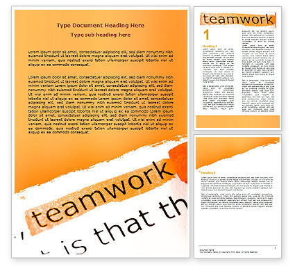 Education & Training: Teamwork Principles Word Template #07133
