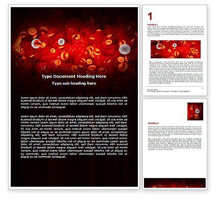 Virus Word Template, 07141, Medical — PoweredTemplate.com