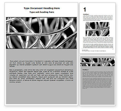 Abstract/Textures: Steel Wires Word Template #07146