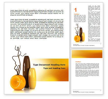 Careers/Industry: Vases Word Template #07155