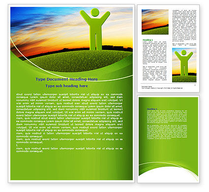 Nature & Environment: Green Man Word Template #07156