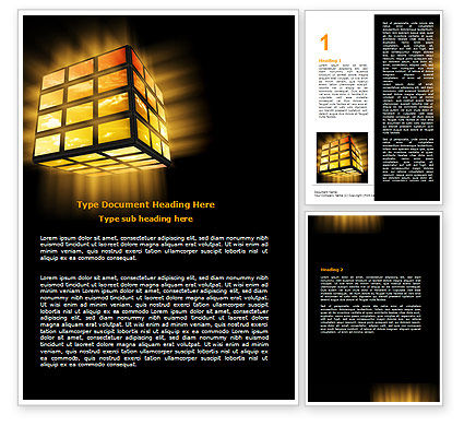 Light Cube Word Template, 07157, Business — PoweredTemplate.com