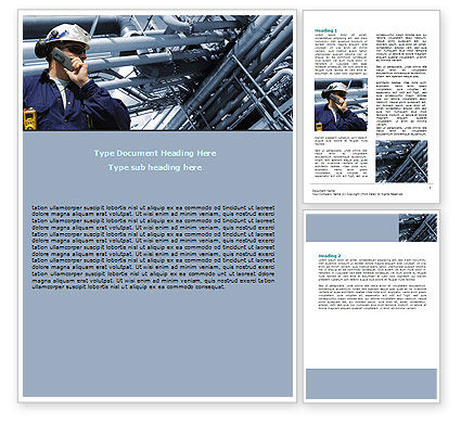 Engineering Industry Word Template, 07159, Utilities/Industrial — PoweredTemplate.com