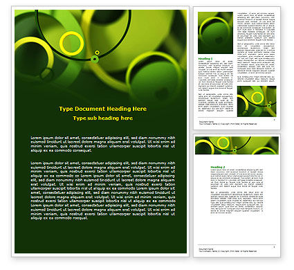 Abstract/Textures: Abstract Green Circles Word Template #07170