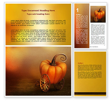 Pumpkin Carriage Word Template